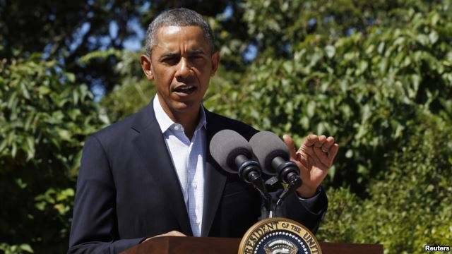 U.S. President Barack Obama makes a statement about the violence in Egypt while at his rental vacation home on the Massachusetts island of Martha's Vineyard in Chilmark, August 15, 2013. (Photo: Reuters)