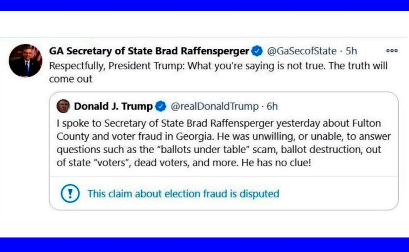Trump minaccia i funzionari repubblicani dellaGeorgia